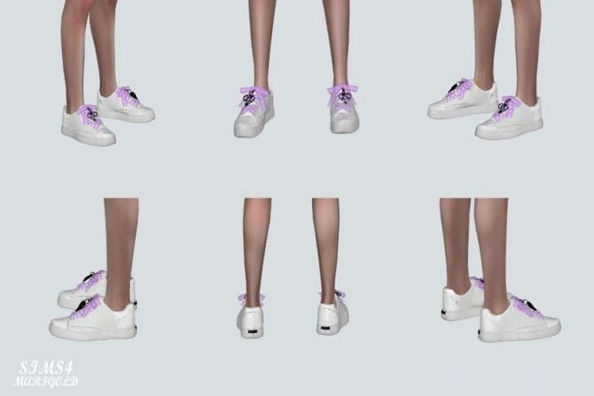 Sims 4 Mesh Strap Sneakers With Heart at Marigold