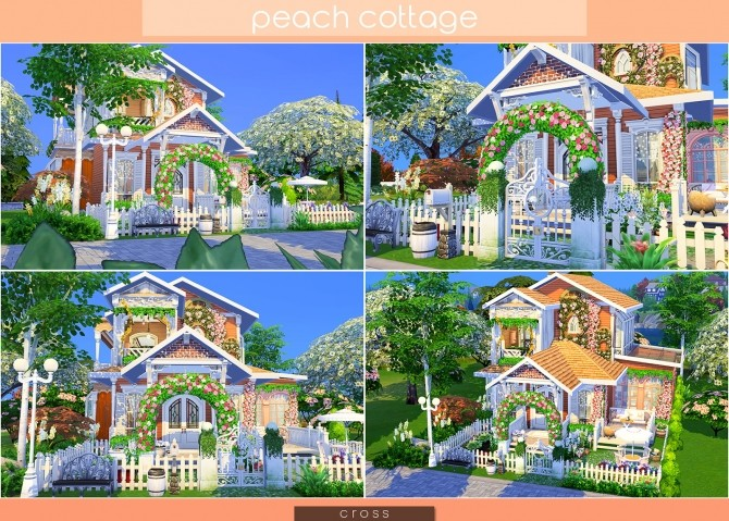 Peach Cottage by Praline at Cross Design image 1507 670x479 Sims 4 Updates