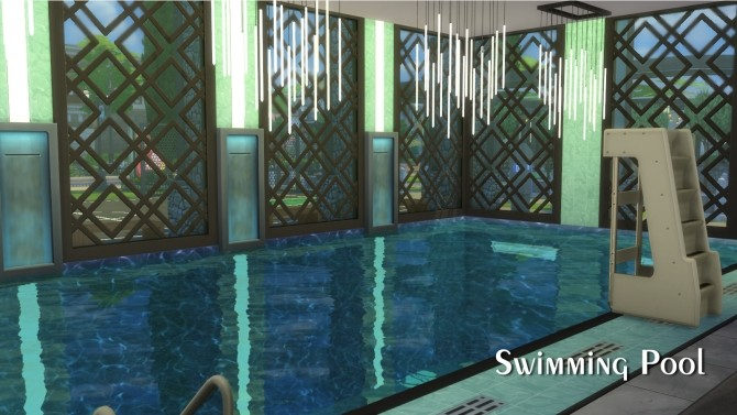 Sims 4 Greenhill Sports Center 50x40 All In One Gym/Sports Center by Mondrosen at Mod The Sims