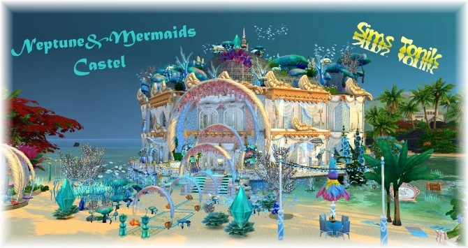 Mermaid & Neptune castel by Coco Simy at L'UniverSims image 1523 670x355 Sims 4 Updates