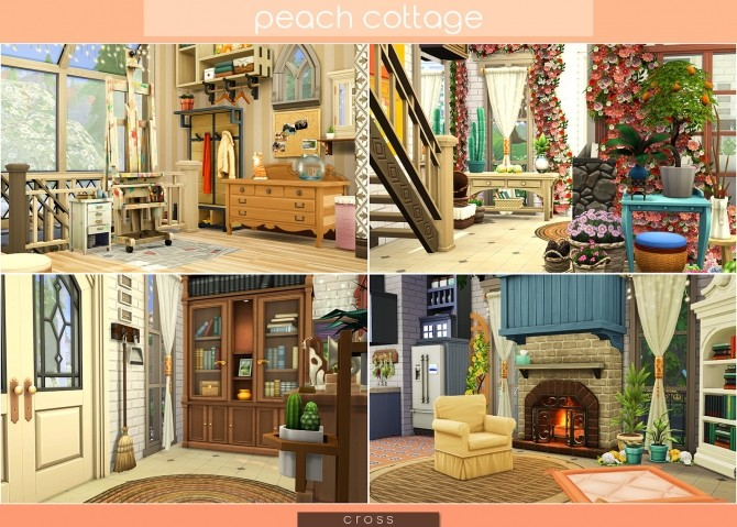 Peach Cottage by Praline at Cross Design image 1527 670x479 Sims 4 Updates