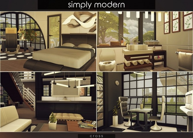 Simply Modern villa by Praline at Cross Design image 15317 670x479 Sims 4 Updates