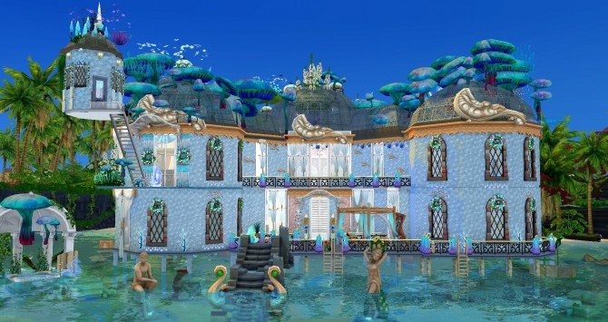 Mermaid & Neptune castel by Coco Simy at L'UniverSims image 1533 670x355 Sims 4 Updates