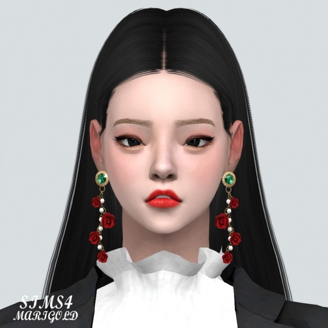 Rose Point Gorgeous Earrings V2 at Marigold image 1535 670x670 Sims 4 Updates