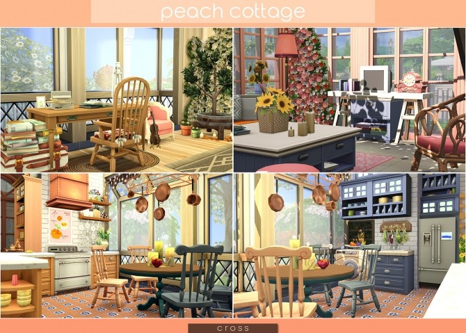 Peach Cottage by Praline at Cross Design image 1537 670x479 Sims 4 Updates