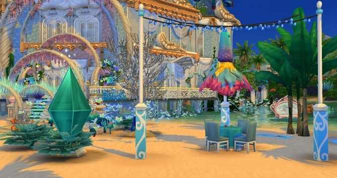 Mermaid & Neptune castel by Coco Simy at L'UniverSims image 1543 670x355 Sims 4 Updates