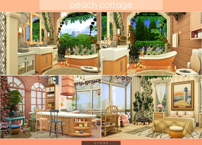 Peach Cottage by Praline at Cross Design image 1547 670x479 Sims 4 Updates