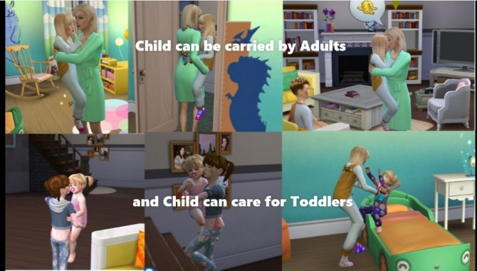 Child can care for Toddlers and Child can be Carried by A MOD by Sofmc9 at Mod The Sims image 15513 670x380 Sims 4 Updates