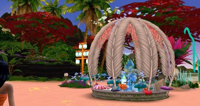 Mermaid & Neptune castel by Coco Simy at L'UniverSims image 1553 670x355 Sims 4 Updates