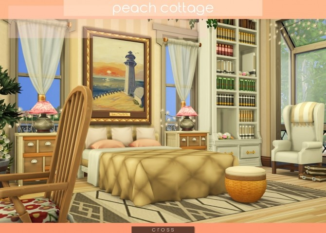 Peach Cottage by Praline at Cross Design image 1557 670x479 Sims 4 Updates
