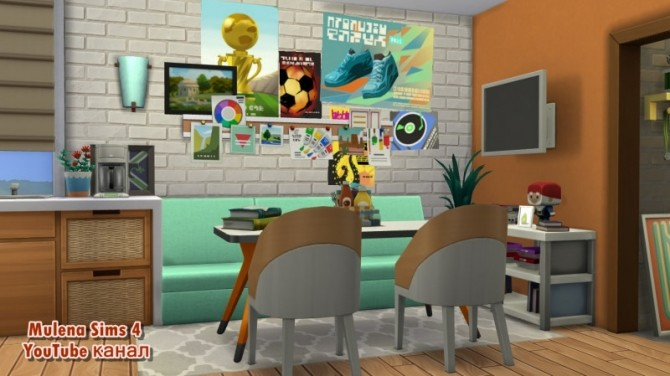 Student apartment at Sims by Mulena image 1559 670x376 Sims 4 Updates