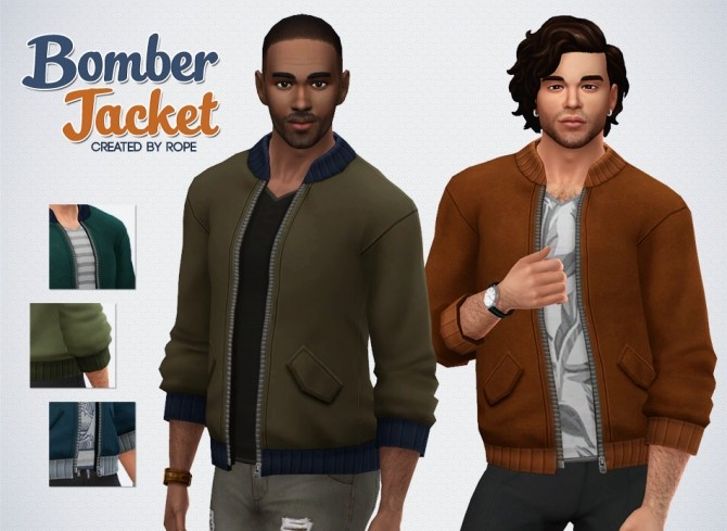 Sims 4 Bomber Jacket by Rope at Simsontherope