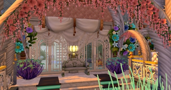 Mermaid & Neptune castel by Coco Simy at L'UniverSims image 1563 670x355 Sims 4 Updates