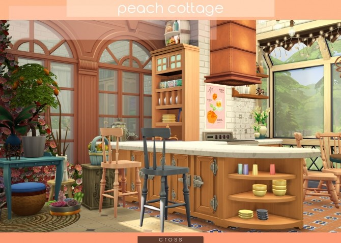 Peach Cottage by Praline at Cross Design image 1567 670x479 Sims 4 Updates