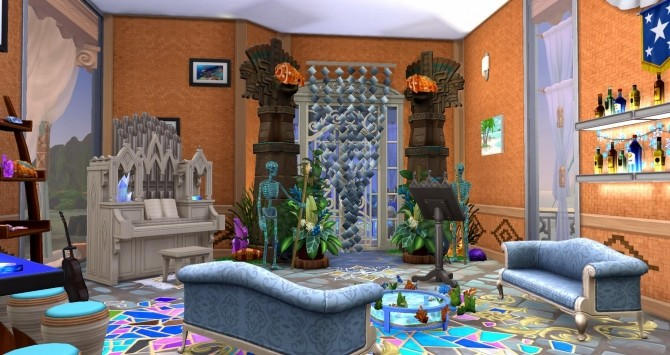 Mermaid & Neptune castel by Coco Simy at L'UniverSims image 1573 670x355 Sims 4 Updates