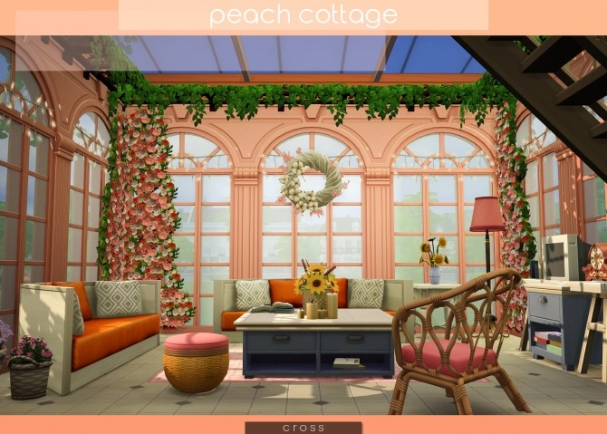 Peach Cottage by Praline at Cross Design image 1577 670x479 Sims 4 Updates
