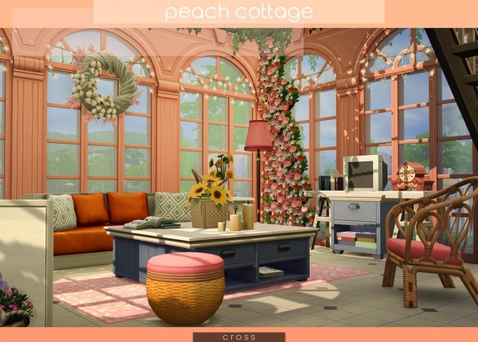 Peach Cottage by Praline at Cross Design image 1587 670x479 Sims 4 Updates