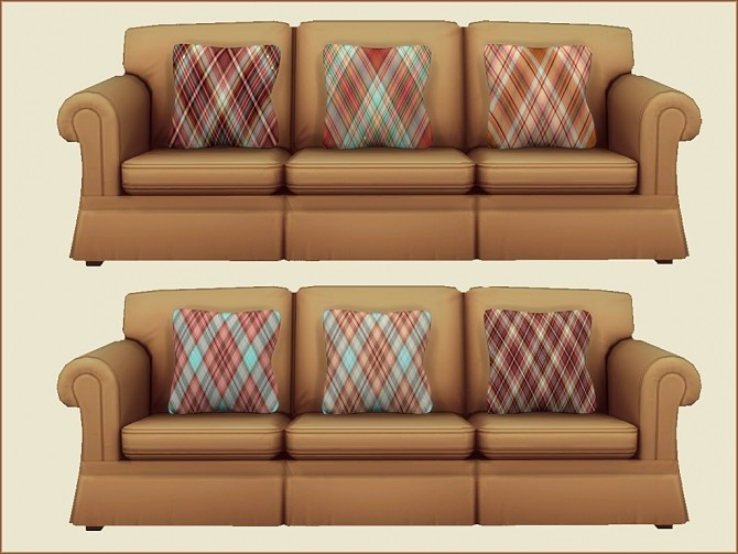 Plaid Print Cushions by oumamea at Mod The Sims image 16117 670x503 Sims 4 Updates