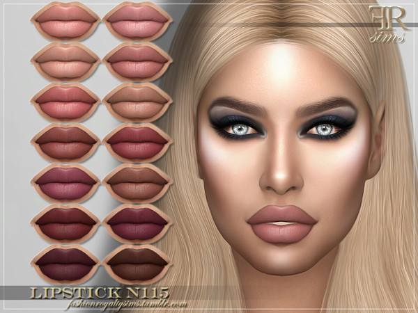FRS Lipstick N115 by FashionRoyaltySims at TSR image 162 Sims 4 Updates