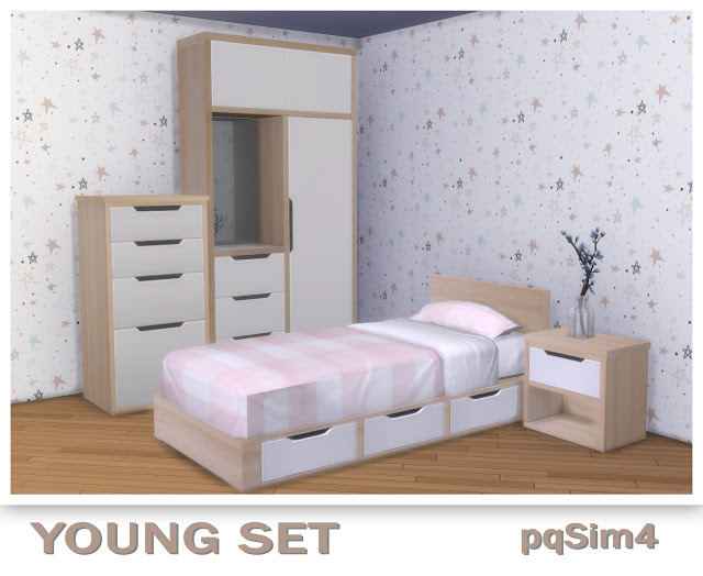 Sims 4 Young Bedroom Set at pqSims4