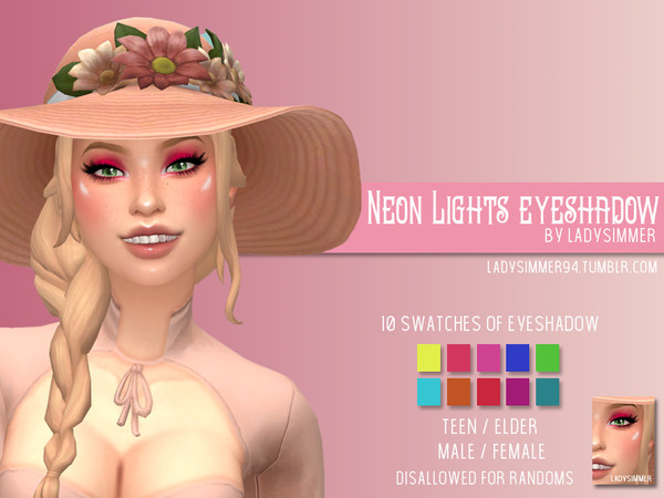 Neon Lights Eyeshadow by LadySimmer94 at TSR image 1629 Sims 4 Updates