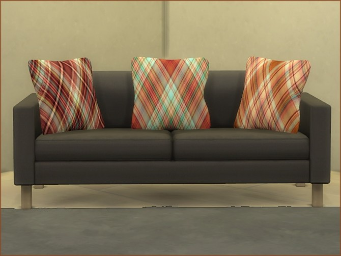 Plaid Print Cushions by oumamea at Mod The Sims image 16413 670x503 Sims 4 Updates