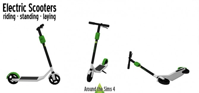 Sims 4 Electric scooters by Sandy at Around the Sims 4