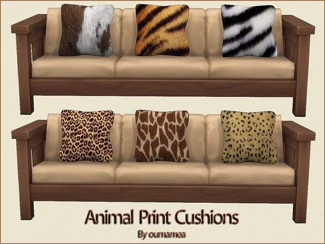 Sims 4 Animal Print Cushions by oumamea at Mod The Sims