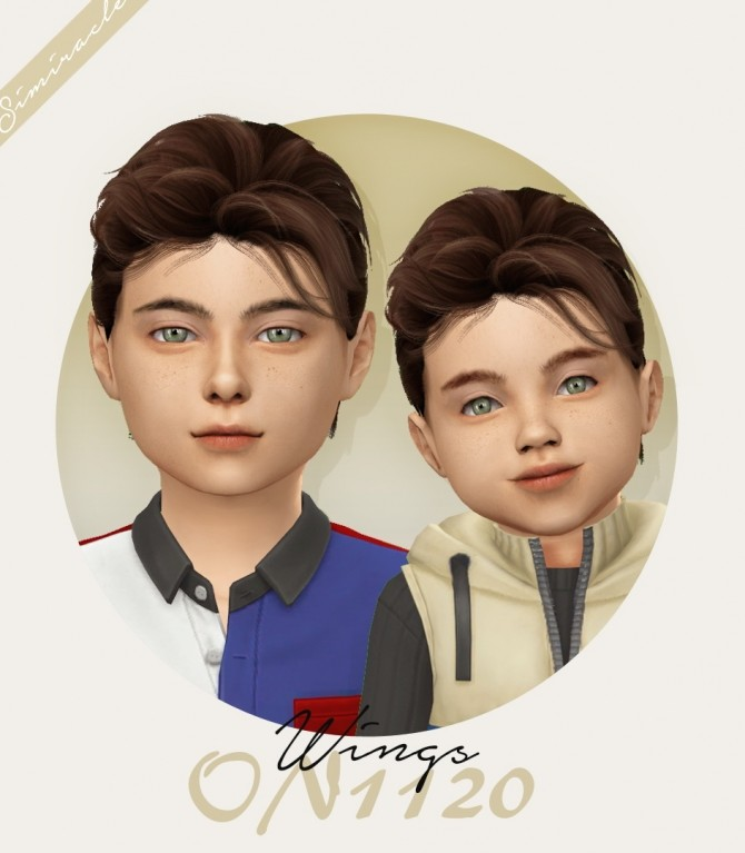 Sims 4 Wings ON1120 hair for kids and toddlers at Simiracle