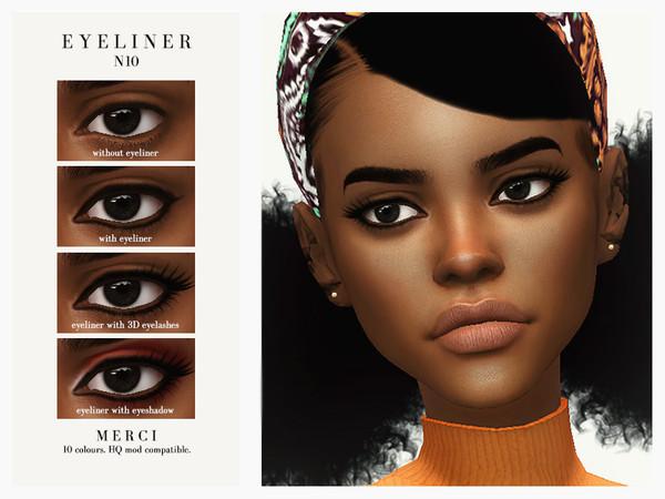 Eyeliner N10 by Merci at TSR image 1711 Sims 4 Updates