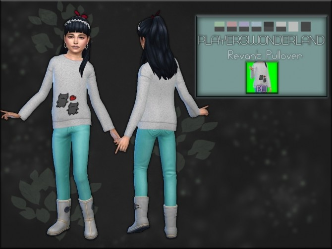 Sims 4 Revant Pullover at PW's Creations