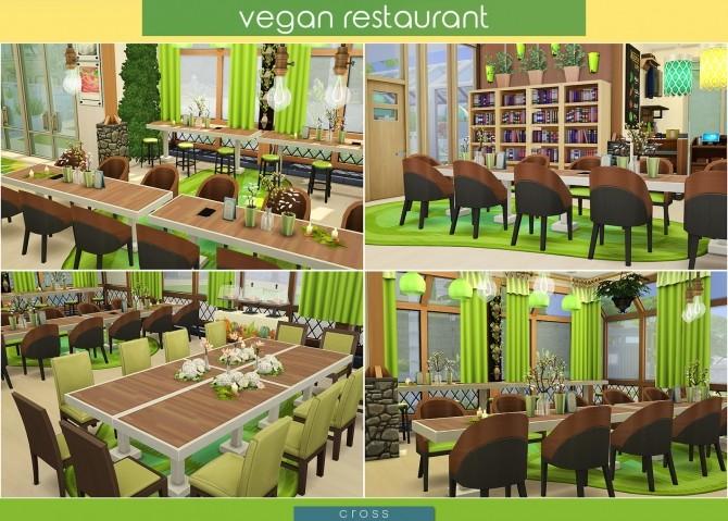 Sims 4 Vegan Restaurant at Cross Design