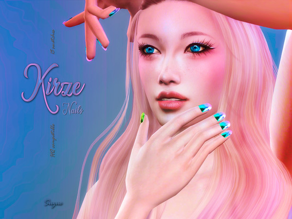 Kirze Nails by Suzue at TSR image 1728 Sims 4 Updates