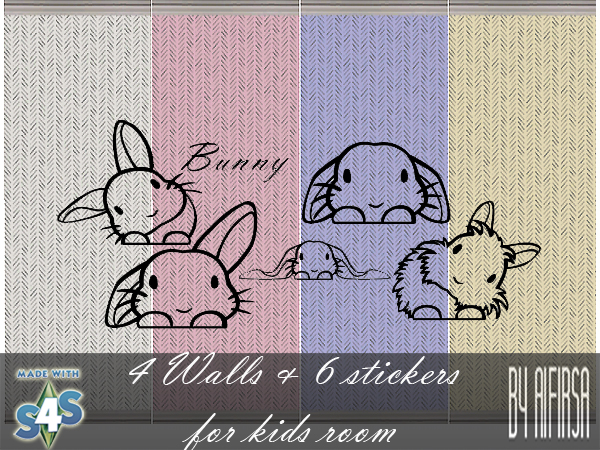 Walls + stickers for kids room at Aifirsa image 17411 Sims 4 Updates