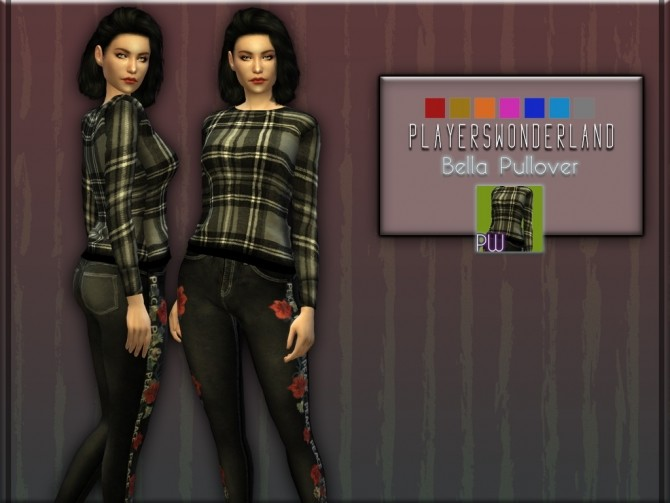 Sims 4 Bella Pullover at PW's Creations