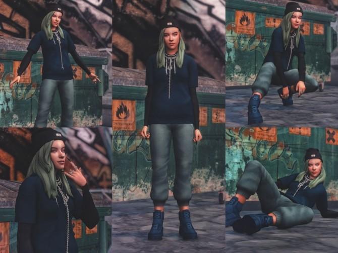 Billie Eilish Pose Pack at Katverse image 1803 670x503 Sims 4 Updates