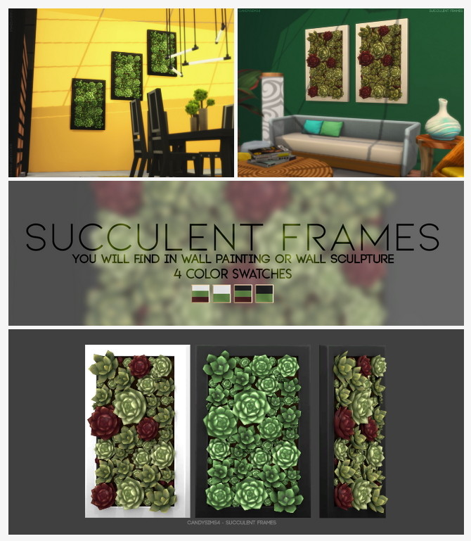 Sims 4 SUCCULENT FRAMES at Candy Sims 4