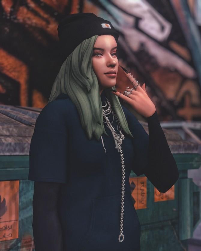 Billie Eilish Pose Pack at Katverse image 1817 670x838 Sims 4 Updates