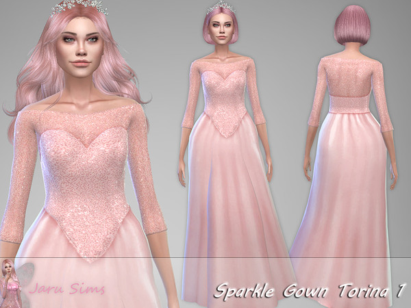 Sparkle Gown Torina 1 by Jaru Sims at TSR image 1830 Sims 4 Updates