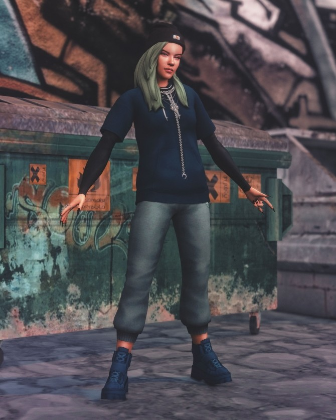 Billie Eilish Pose Pack at Katverse image 1834 670x837 Sims 4 Updates