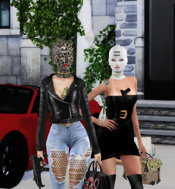 Sims 4 BAD GIRL MASK/CAP at Ruchell Sims