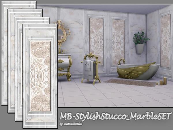 Sims 4 MB Stylish Stucco Marble SET by matomibotaki at TSR