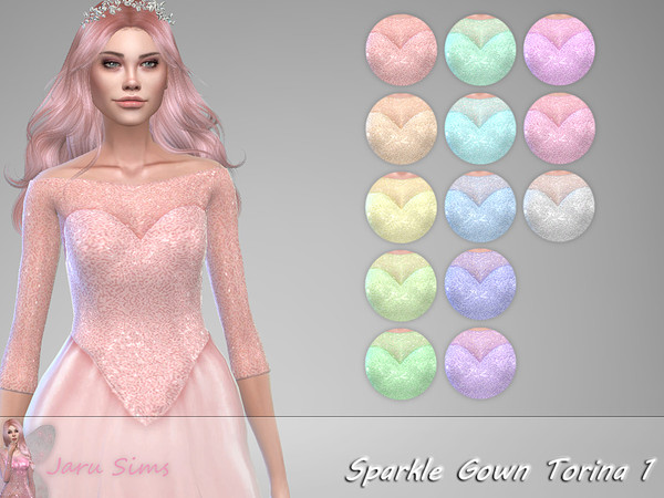 Sparkle Gown Torina 1 by Jaru Sims at TSR image 1936 Sims 4 Updates