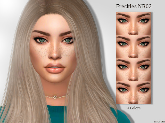 Sims 4 Freckles NB02 at MSQ Sims