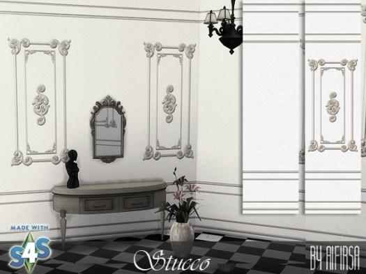 Sims 4 Stucco walls at Aifirsa