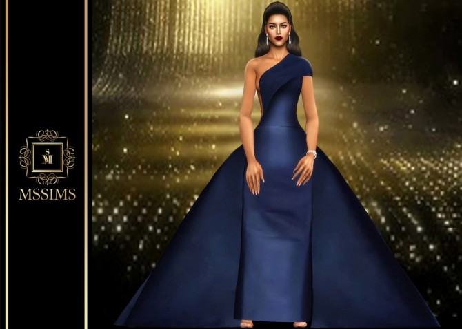 Sims 4 SILK GOWN (P) at MSSIMS
