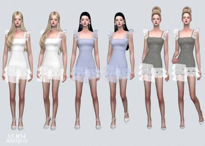 Sims 4 Sha Sha Tiered Mini Dress at Marigold