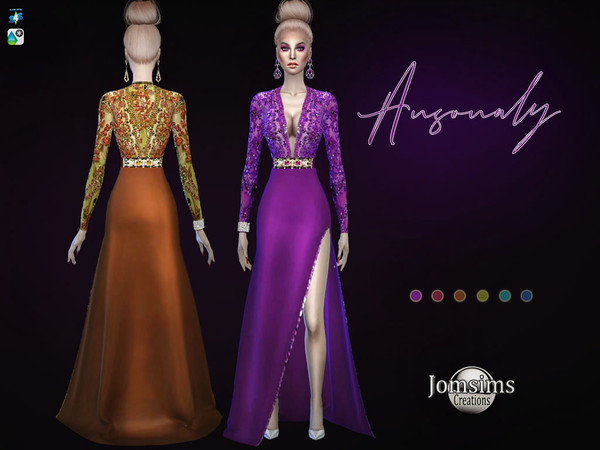 Sims 4 Ansonaly dress by jomsims at TSR