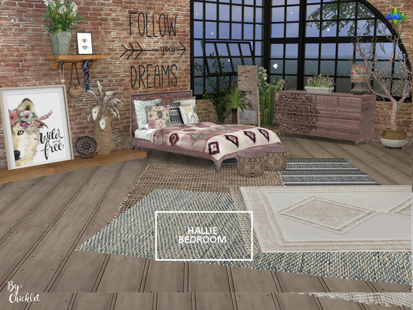Hallie Bedroom by Chicklet453681 at TSR image 2016 Sims 4 Updates