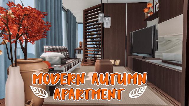 Sims 4 MODERN AUTUMN APARTMENT at Luna Sims